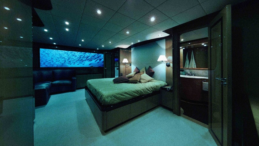 Sweet dreams await in this fantastical underwater bedroom.