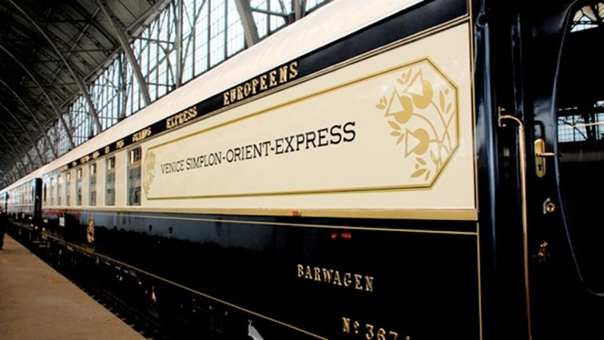 The Venice Simplon-Orient-Express' 1920s vintage cars.