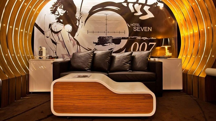 james bond themed hotel room lets you live like a secret agent fox
