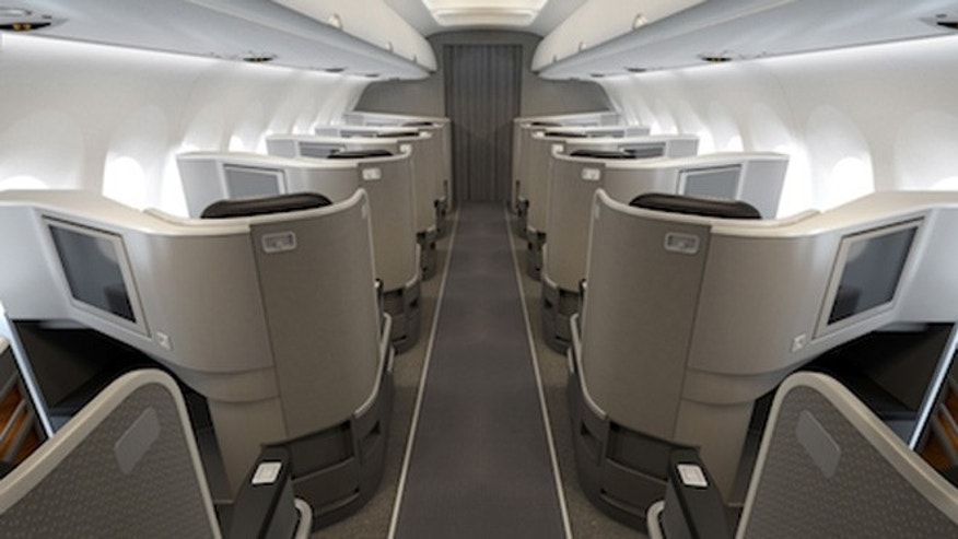 Secluded first class seating aboard the new American Airlines planes.