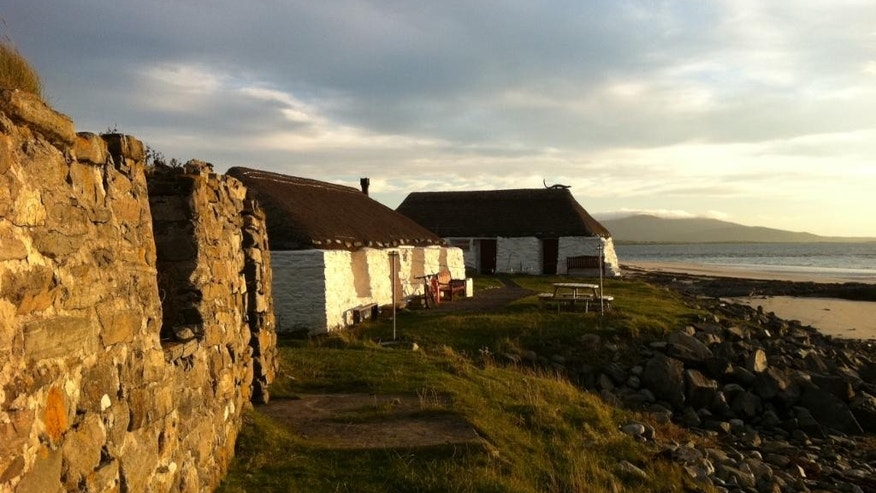 The Gatliff Trust-run hostel is steps from the sea, and from crumbling farmhouses called crofting houses.