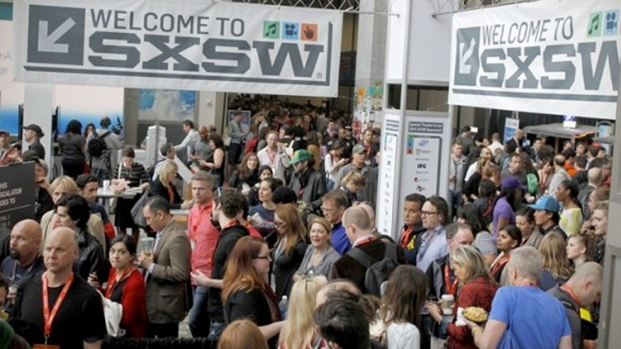Freebies given to attendees of the South By Southwest festival set off airport security alarms Wednesday.