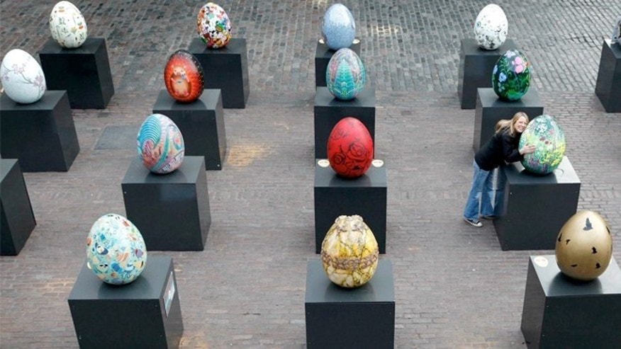 Nearly 275 egg sculptures will be hidden around the city April 1-17 as part of The Faberge Big Egg Hunt.