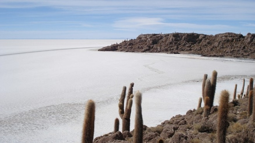 Salar de Uyuni, Bolivia.  Salar means add salt to in Spanish.