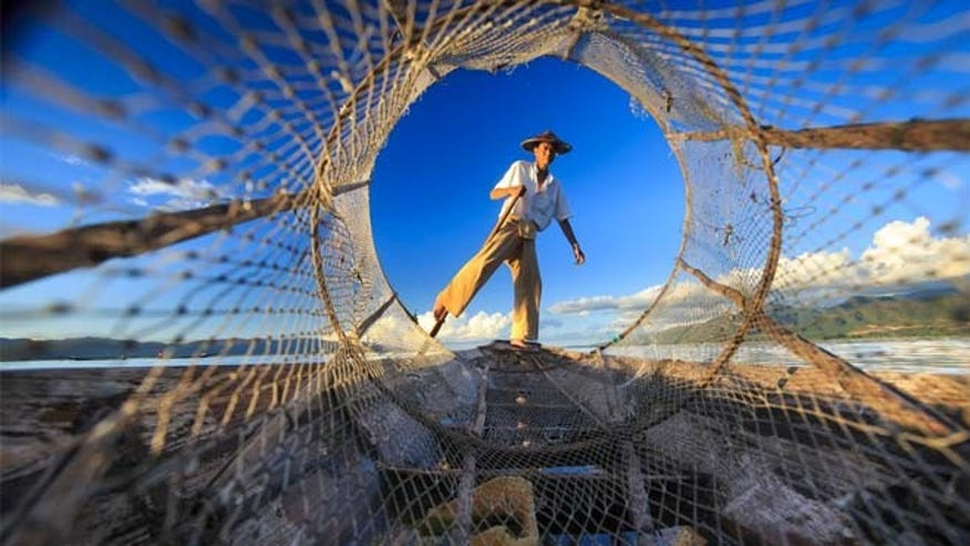 Fisherman in Burma