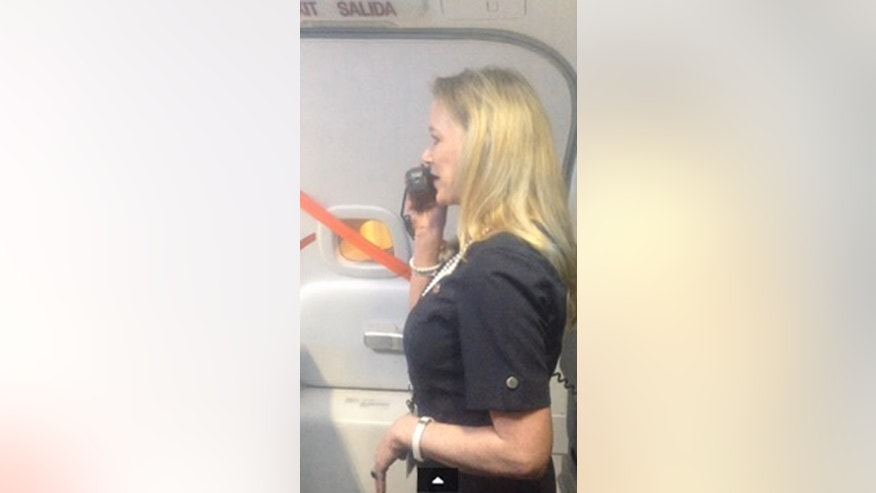 Marty Cobb has Southwest passengers in stitches with her unusual routine.