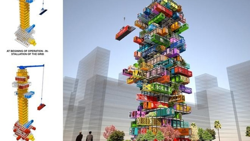 Real live Jenga? This giant hotel features interchangeable modules.