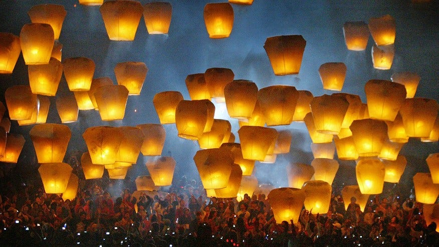 Pingxi International Sky Lantern Festival, Taiwan: February