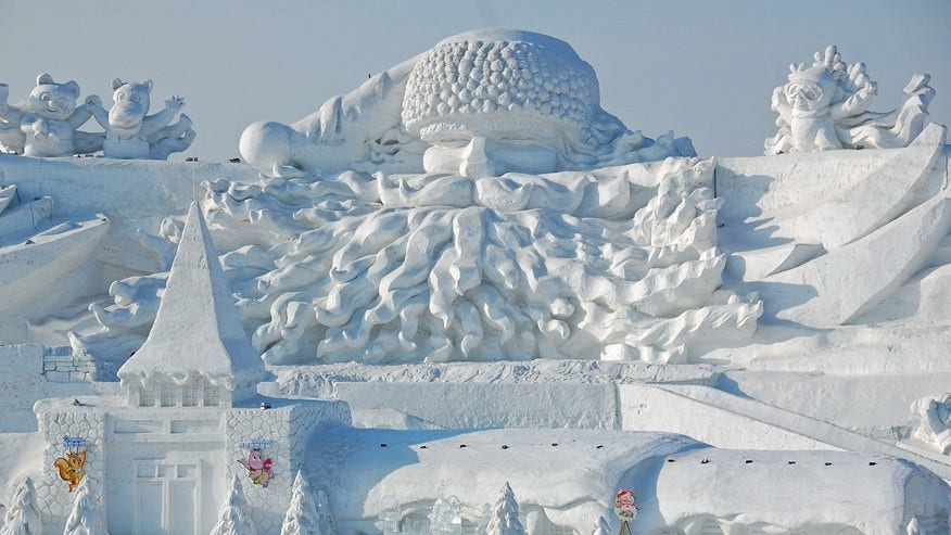 International Ice and Snow Sculpture Festival, Harbin, China: January to March