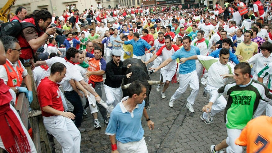 Running of the Bulls, Pamplona, Spain: July