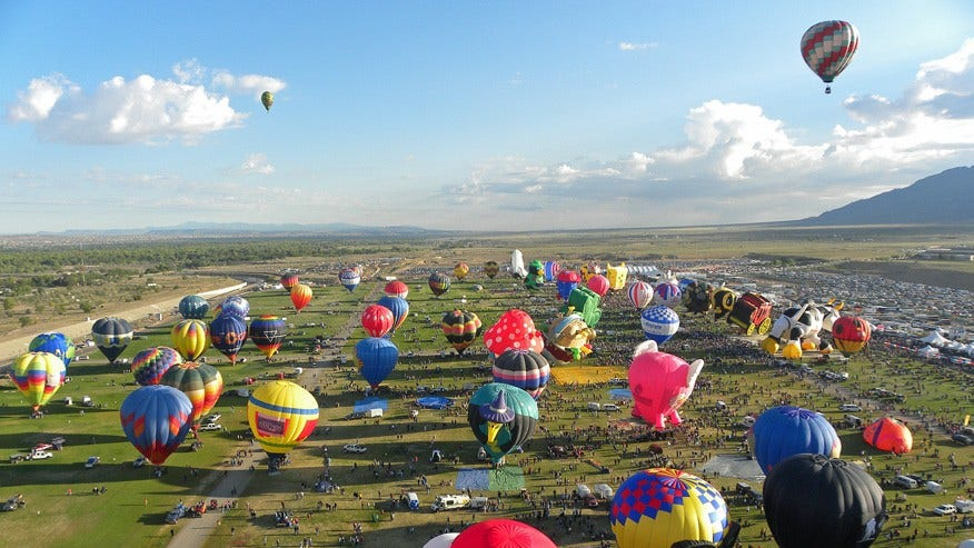 Albuquerque International Balloon Fiesta, New Mexico: October