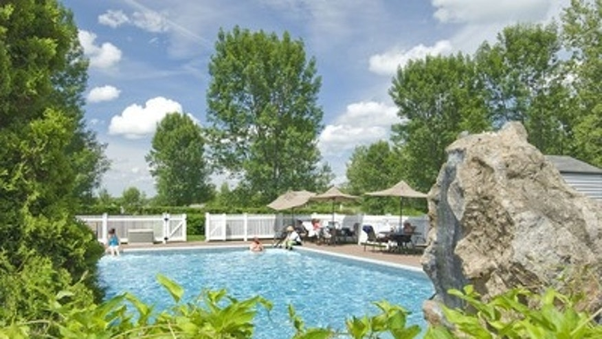 A view of t he outdoor pool at Essex Resort.