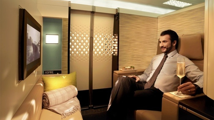 Hang out in your private airline suite.