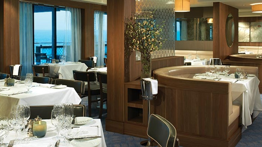 On the Norwegian Breakaway, dining at Ocean Blue, a high-end seafood restaurant from celebrity chef Geoffrey Zakarian, comes with a $49-a-head upcharge.