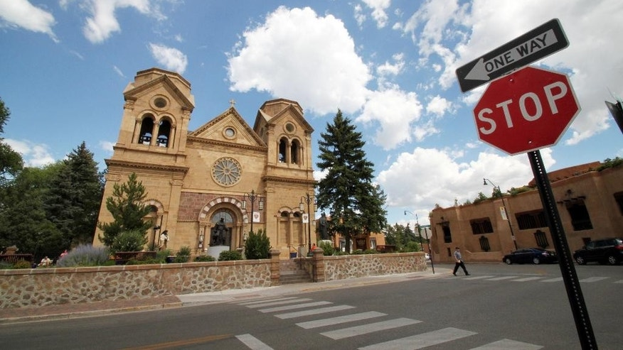 St. Francis Cathedral, one of many historic churches and missions in Santa Fe, N.M.