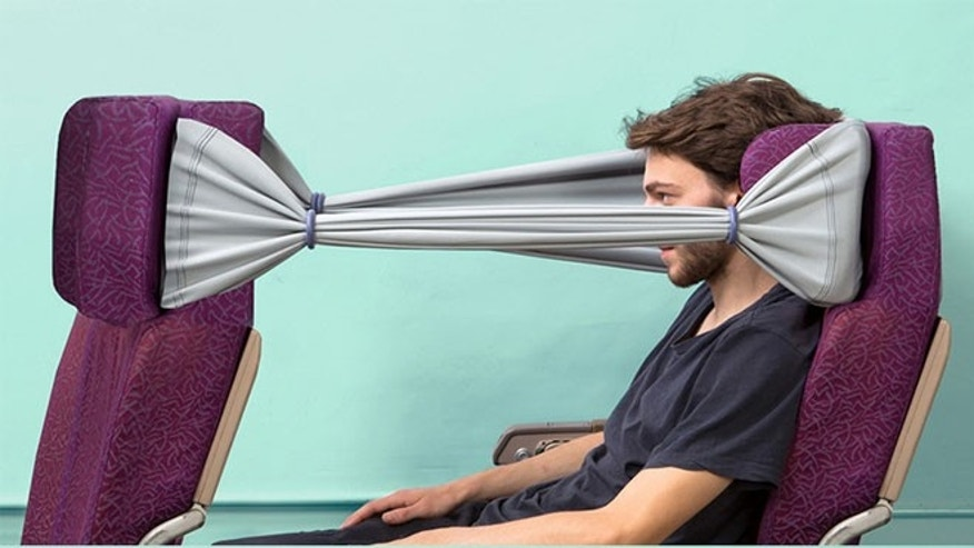 With the B-Tourist, you'll never have to see your seatmate's angry glares again.