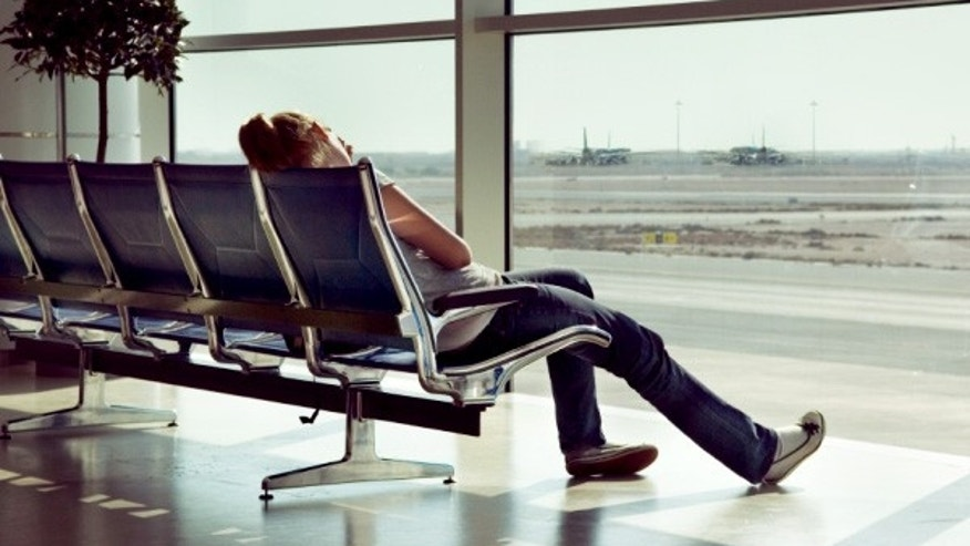 Playing the waiting game for a cancelled or delayed flight.