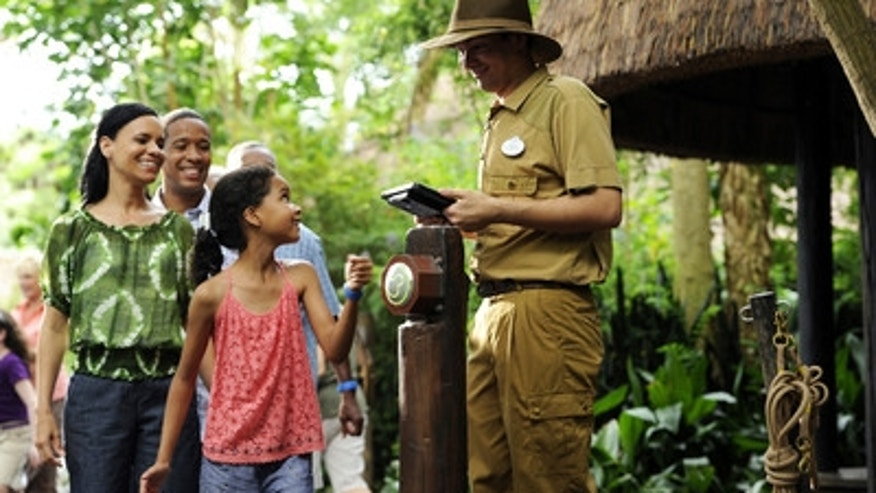 Walt Disney World Resort guests use MagicBands for FastPass+ access to experiences and attractions such as Kilimanjaro Safaris at Disney's Animal Kingdom.