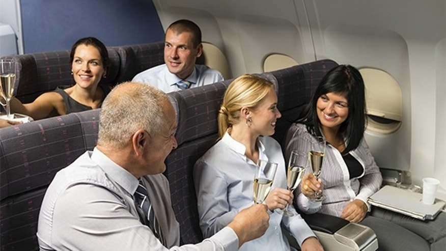 Passengers drink more on the way to Las Vegas.