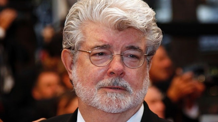 "May 25, 2012: Director George Lucas arrives on the red carpet ahead of the screening of the film ""Cosmopolis"" in competition at the 65th Cannes Film Festival."