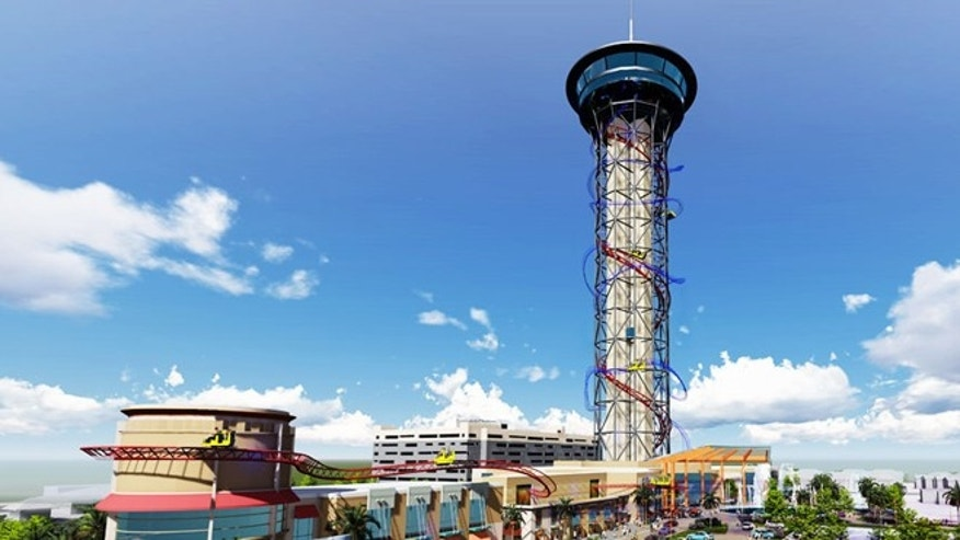 World's tallest coaster will tower above Orlando.