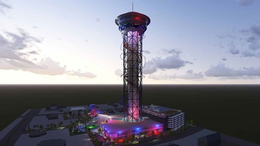 New coaster tower will light up the night sky.