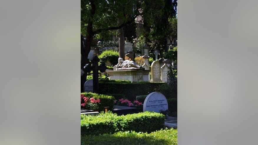 The Non-Catholic Cemetery in Rome, which houses the graves of many artists.
