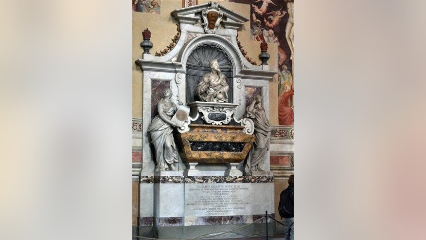 The tomb of Galileo in Santa Croce church in Florence, Italy.