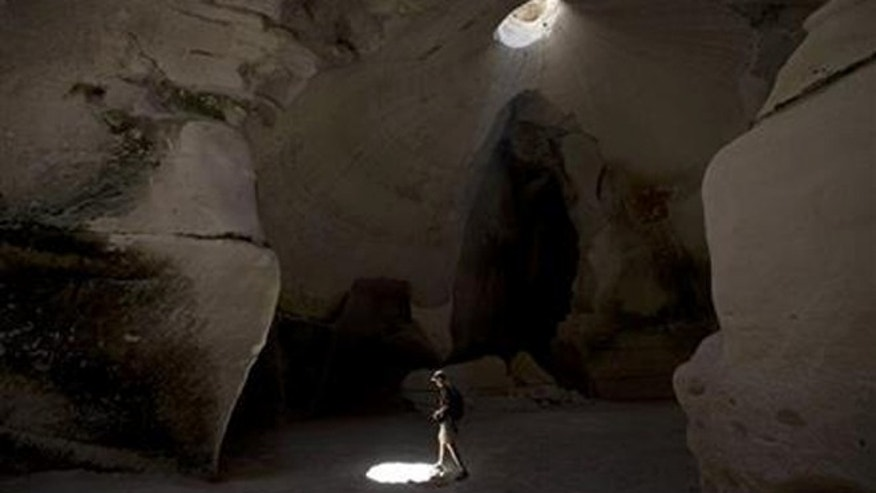 Saam Gabbay of the U.S. visits the Maze Cave of Beit Guvrin-Maresha, central Israel.