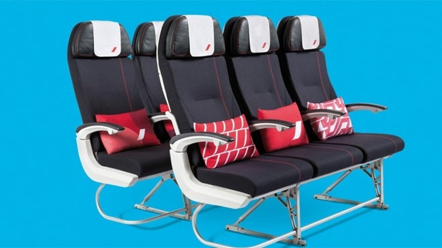 Economy has new thinner, lighter seats give fliers an extra inch of legroom, a nine-inch personal flat-screen TV and an electrical socket for charging personal devices.