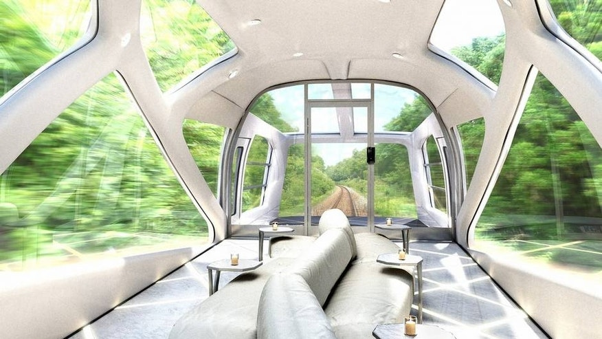 Glass enclosed cars give train riders an optimal view.
