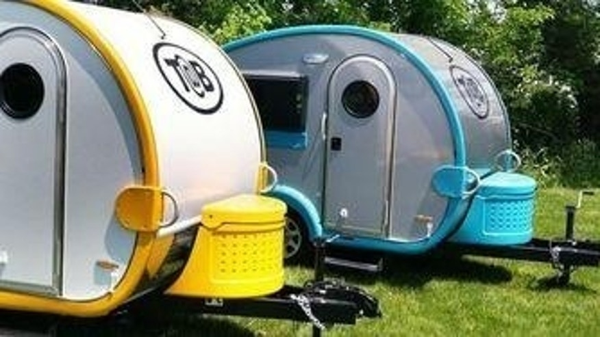 Tiny Teardrop trailers.