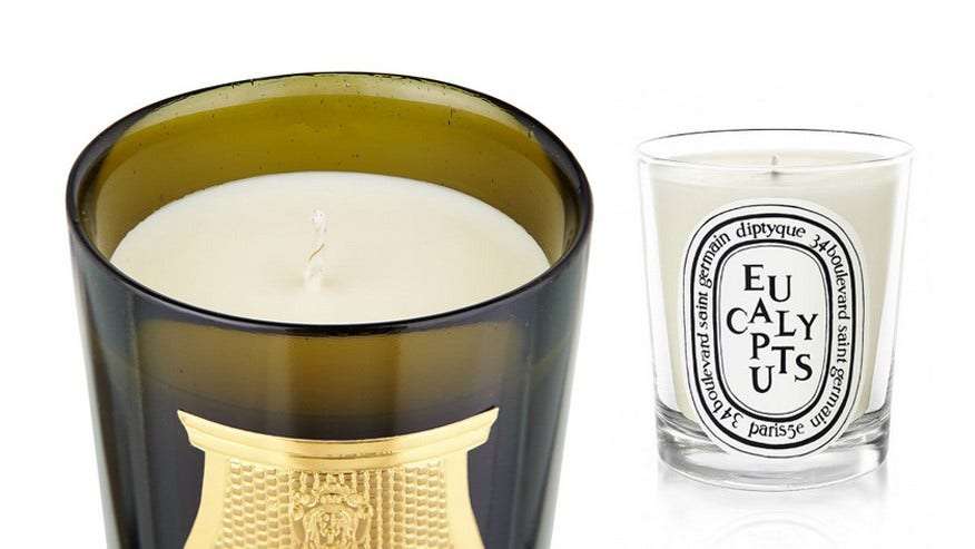 A demure scented candle