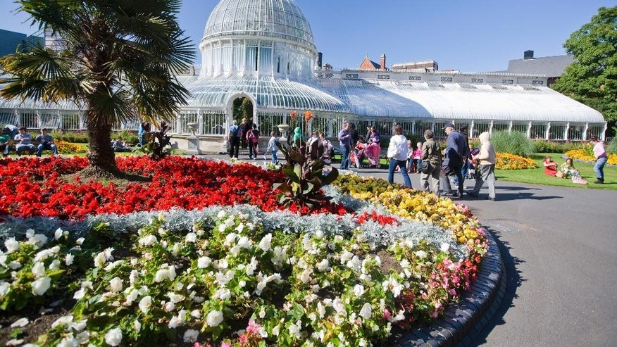 The Botanic Gardens in Belfast is home to a glass house, hot house, rose gardens and places where students from Queen's University next door can relax between lectures.