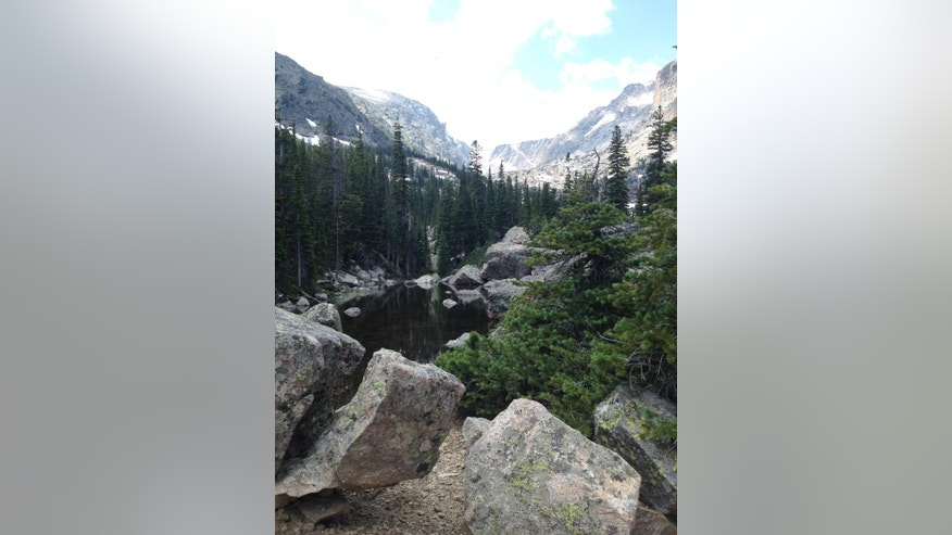 July 19, 2014: Near Lake Haiyaha in the Bear Lake Corridor Trails area in Rocky Mountain National Park in Colorado.