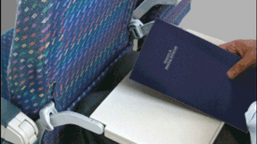 The Knee Defender, which sells for about $22,  attaches to a passenger's tray table and prevents the person in front of them from reclining.