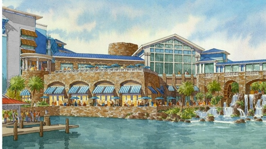 Caribbean-themed Lowes Sapphire Resort is expected to open in the summer of 2016.