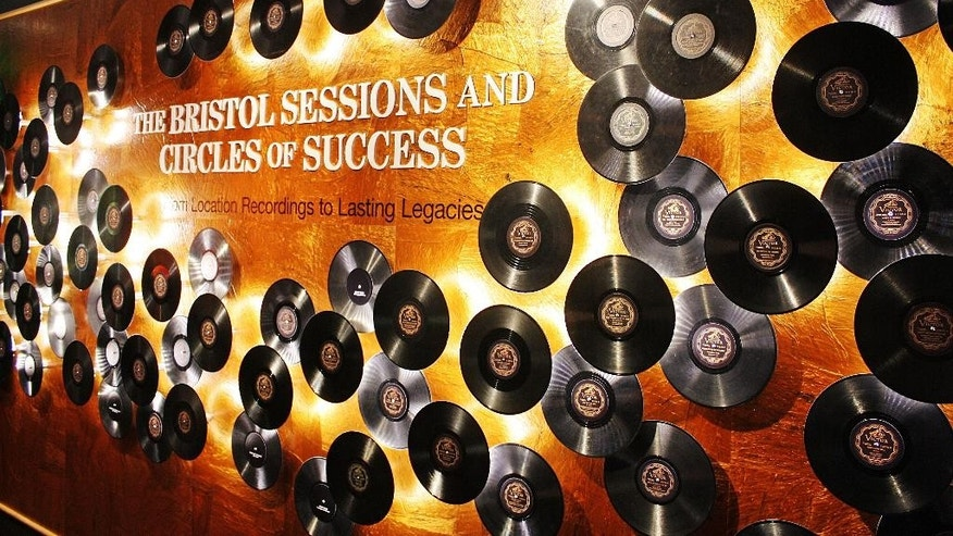 Sept. 21, 2014: An exhibit with the names and titles of the 76 songs recorded during the 1927 Bristol Sessions is displayed at the Birthplace of Country Music Museum in Bristol, Va.