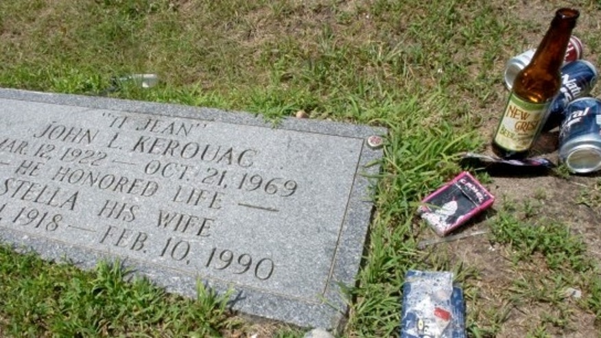 Jack Kerouac's grave in Lowell, Mass.
