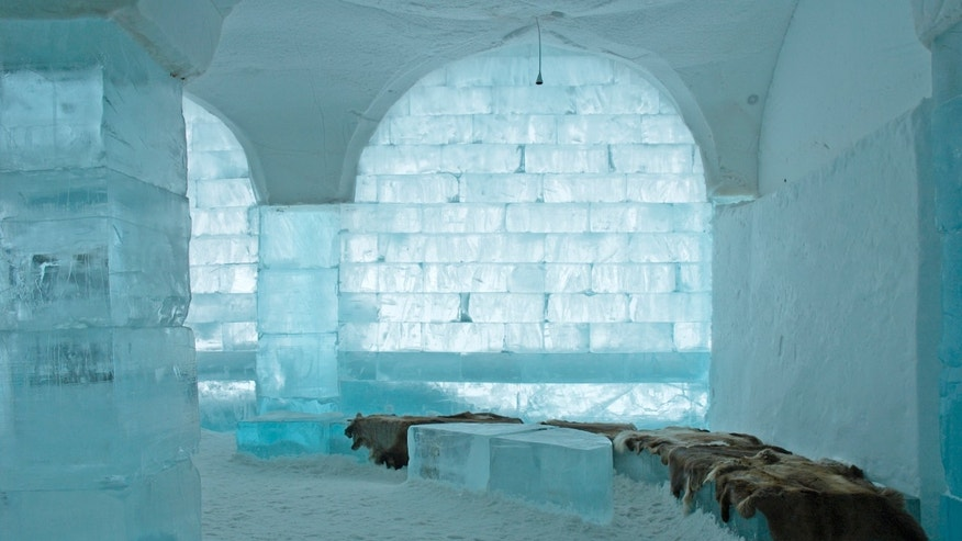 Icehotel in Jukkajärvi, Kiruna, north of Sweden