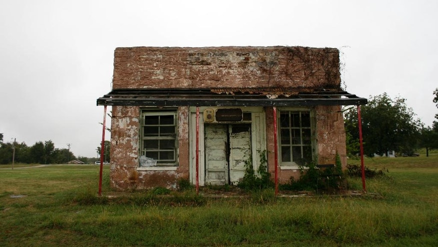 FILE:  An abandoned building along Main Street in Clearview, Okla.