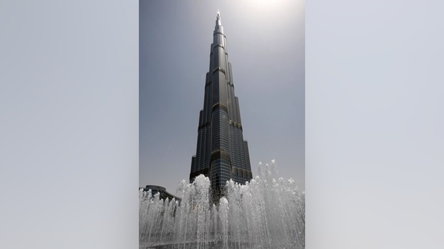 The world's tallest building in Dubai.