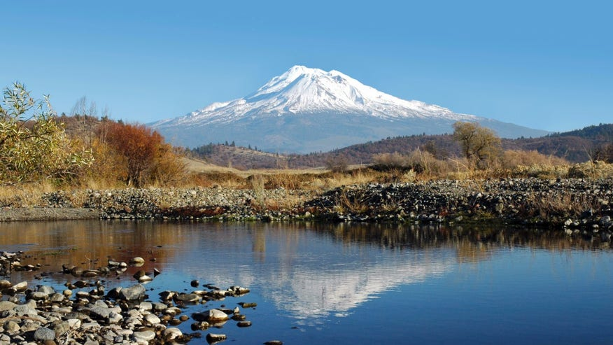Mount Shasta from Heart Lake, California