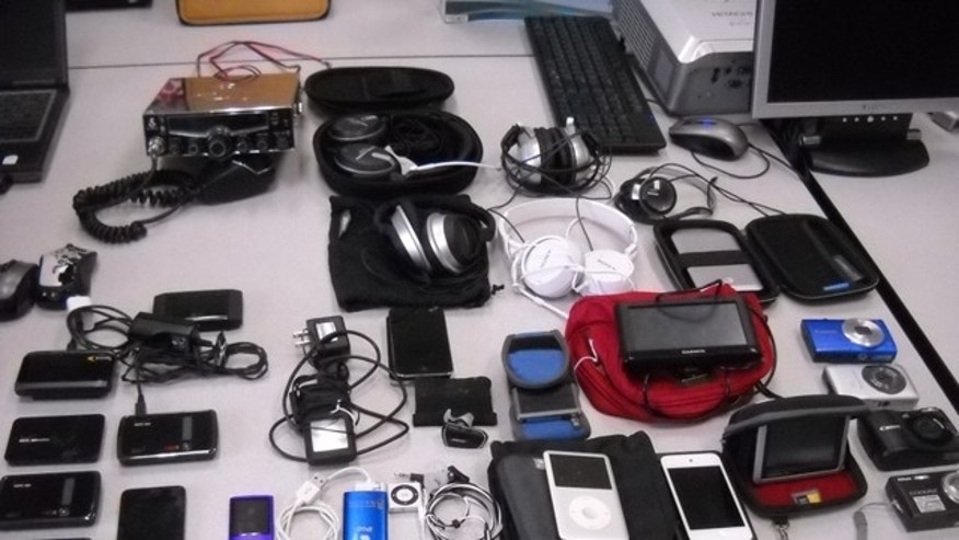 iPods, reader tablets and other electronics up for auction.