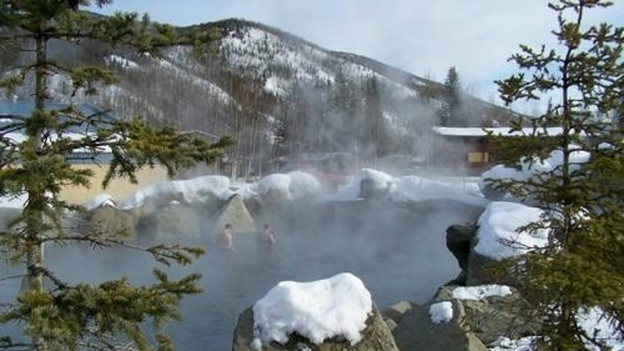 From a hot spring