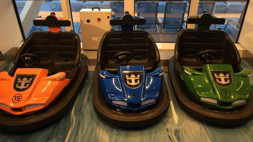 The sports complex has bumper cars