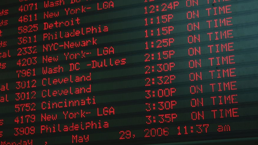 Check your flight status BEFORE leaving for the airport