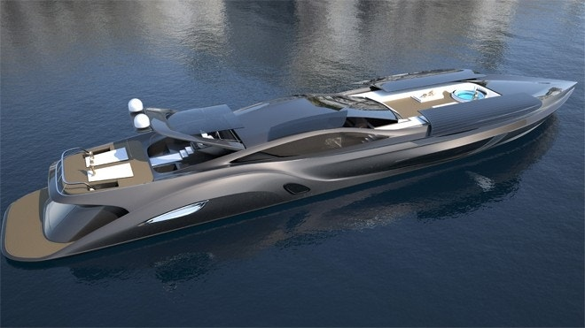 $25M Xhibitionist megayacht is the Batmobile for the water