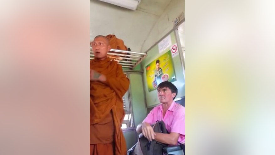 In Thailand, there's special seating on public transportation and in waiting areas that are reserved for monks.