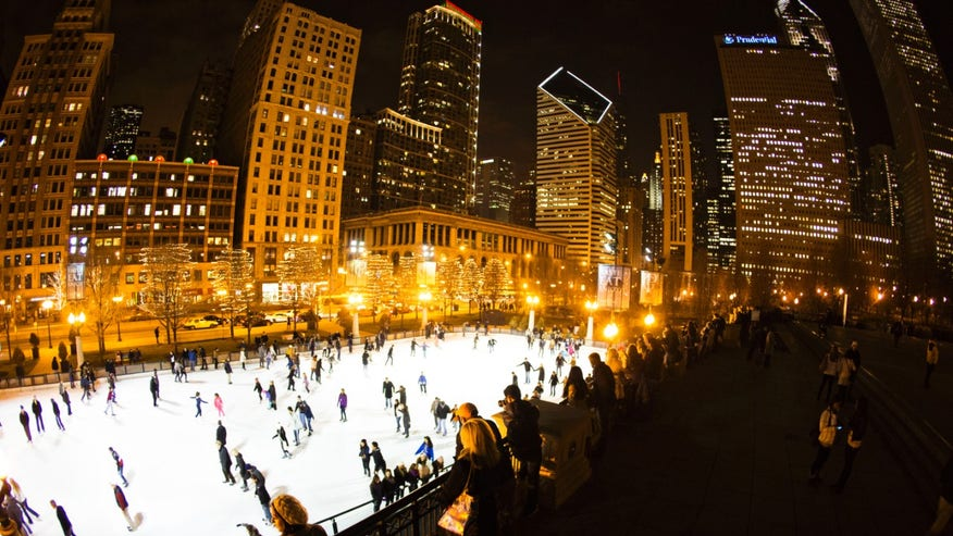 Millennium Park Ice Skating Rink, Chicago